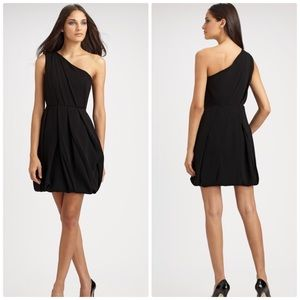 Shoshanna Matte Crepe One Shoulder Dress size 10